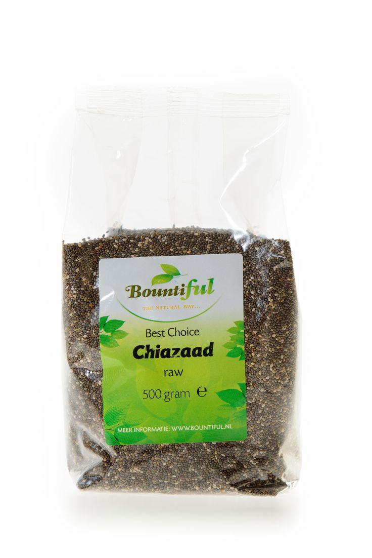 Chiazaad. Chiazaad kan jaren bewaard worden. Doe een eetlepel chiazaad in een glas water of sap, roer en laat het een minuut of 5 staan, dan nog een keer omroeren en opdrinken. Chiazaad kan toegevoegd worden aan jam, notenspread, pindakaas, muesli, ontbijtgranen, sauzen en soepen. Chiazaad is vezelrijk.