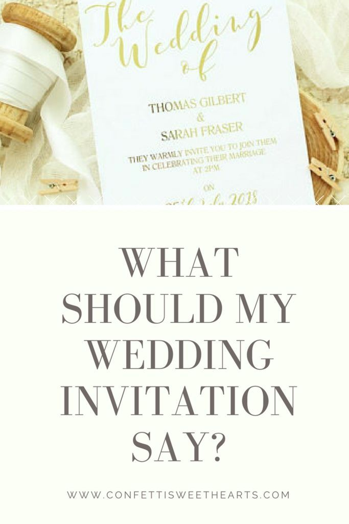 What Should My Wedding Invitation Say Invitations
