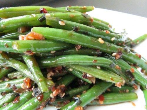 Szechuan Green Beans - with a simple homemade Szechuan sauceOlive Oil, Red Peppers, Szechuan Green Beans, Cider Vinegar, Beans Food Porn, Red Wine, Coconut Oil, French Green Beans, Beans Vegan