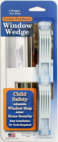 Window Wedge  Window Safety Stop (USA). Uses Velcro. Easily removed from inside.