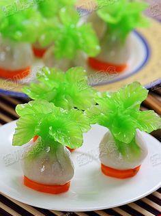水晶象形白菜蒸饺的做法 Chinese food and dimsum