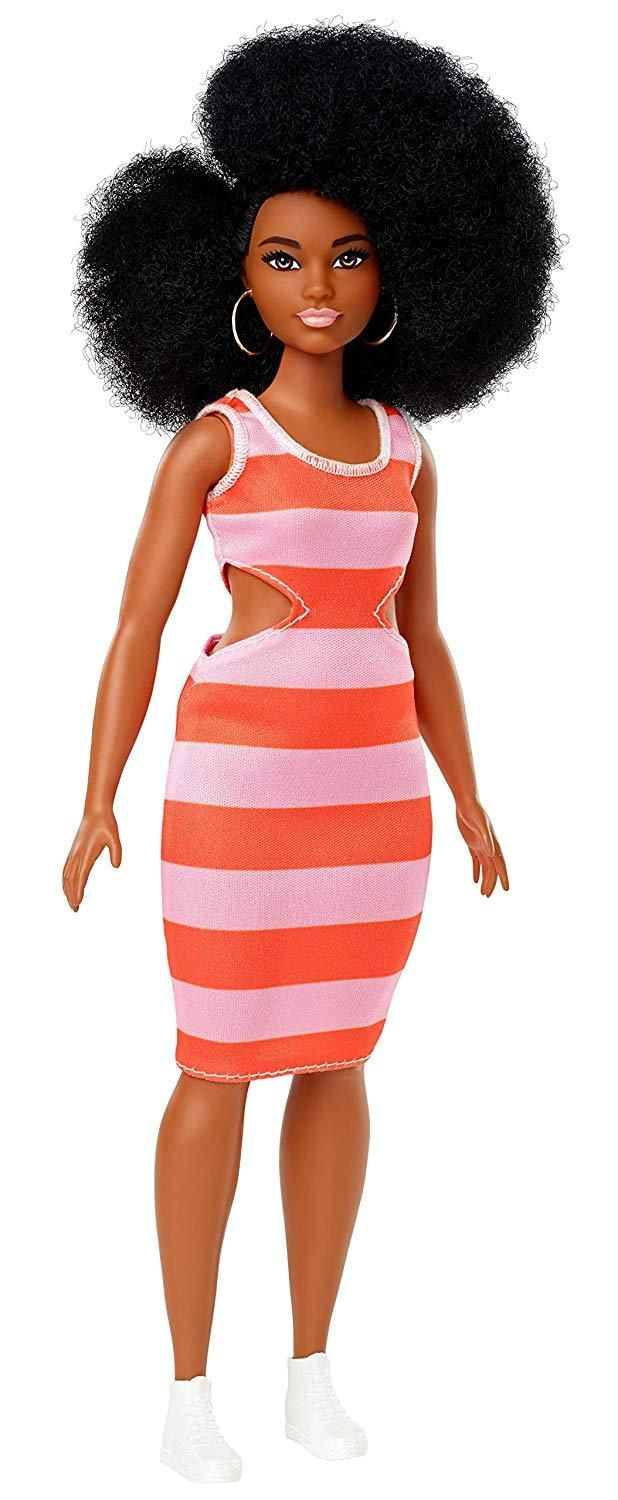 PEACH /& WHITE Halter top Dress for Curvy  BARBIE body