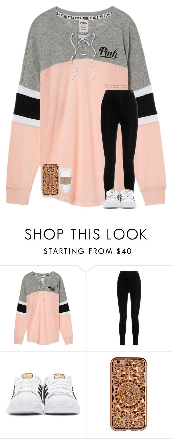 """""""we'll carry on"""" by elliegracee ❤ liked on Polyvore featuring Victoria's Secret, Balmain, adidas Originals, Felony Case, Adina Reyter, Luna and WALL"""