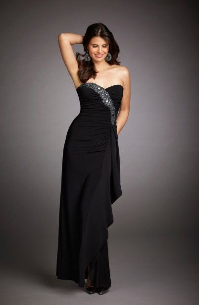 Long Black Gown/by Fernando's fashions