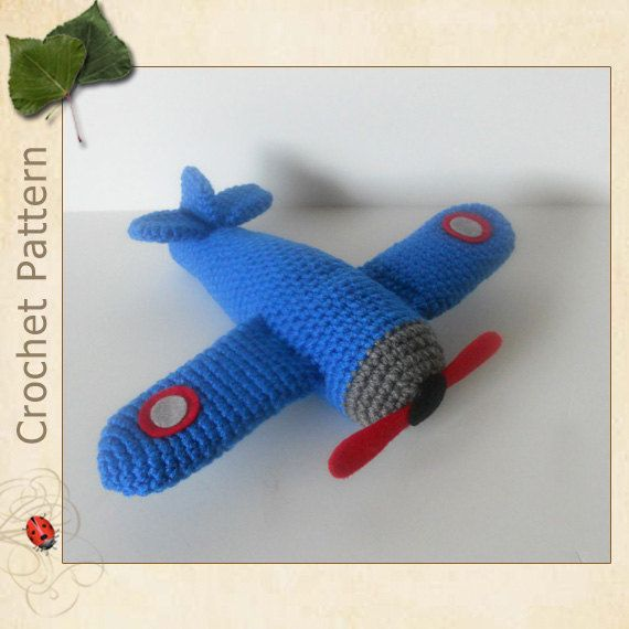 Crocheting On A Plane : Airplane Crochet Pattern by DolkapotsDesigns