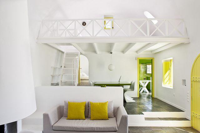 Space and unique design. The luxury VIP Villa, Architect's House, Santorini