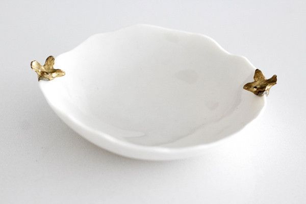 $21.00 HAUTEEDIT.COM - Porcelain Salt and Pepper Pinch Bowl. Ceramics. Homewares. Handmade in South Africa. These pinch bowls can also be used as a jewellery dish or trinket bowl and adds an adorable touch to your dresser. The petite catch-all is ideal for storing delicate chains and charms. These limited edition pieces will make a stylish statement in any home.