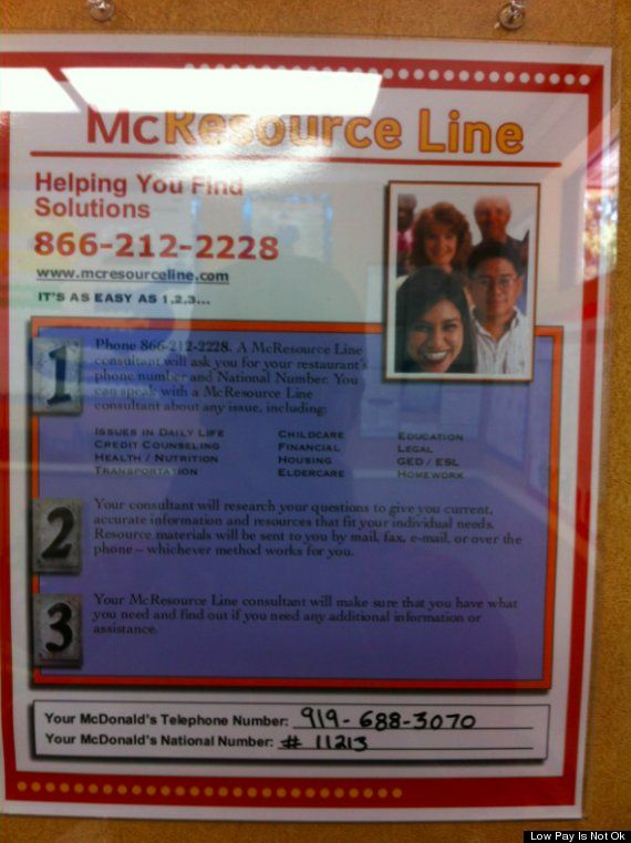 McResource Line tells worker she should sign up for food stamps and welfare