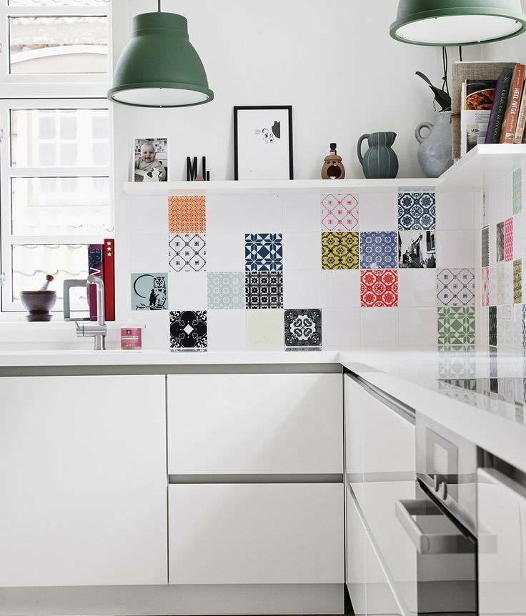 Фото из статьи: Пэчворк: 25 примеров плитки и обоев в модном дизайне