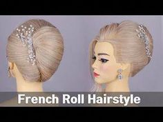 French Roll Hairstyle. /Hair Tutorial – YouTube – June 22 2019 at 07:09AM