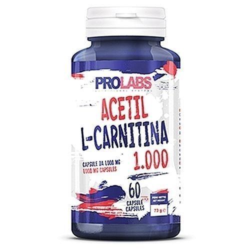 Prolabs - Acetil L-Carnitina 1000, 60 Cps.  ALC Carnitina da 1000 mg.