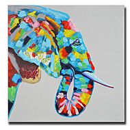High+Skills+Artist+Hand-painted+Elephant+Oil+Painting+On+Cavas+With+Frame++Abstract+Painting+For+Office+Decoration+–+GBP+£+91.28