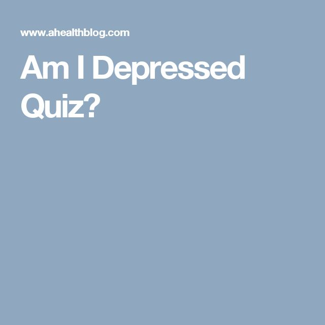 Am I Depressed Quiz?