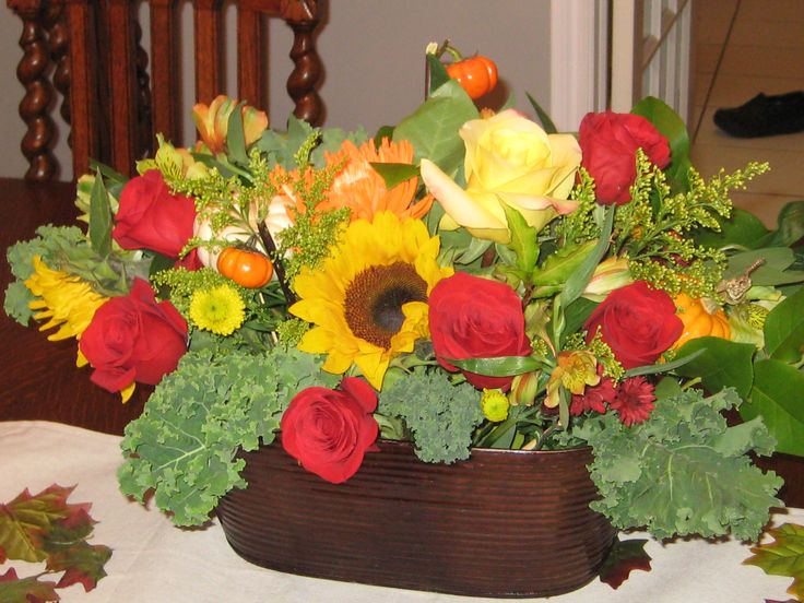 Fresh Floral Arrangement Fall.