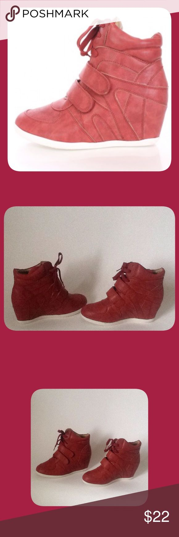 Red Wedge Sneakers These are New and have Never been Worn!!! To keep Shipping Low I Will ship Without the Box!!! Reasonable Offers Only!!! Reneeze Shoes Sneakers