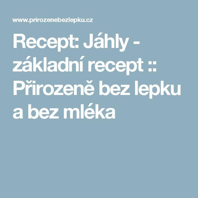 Recept: Jáhly - základní recept :: Přirozeně bez lepku a bez mléka