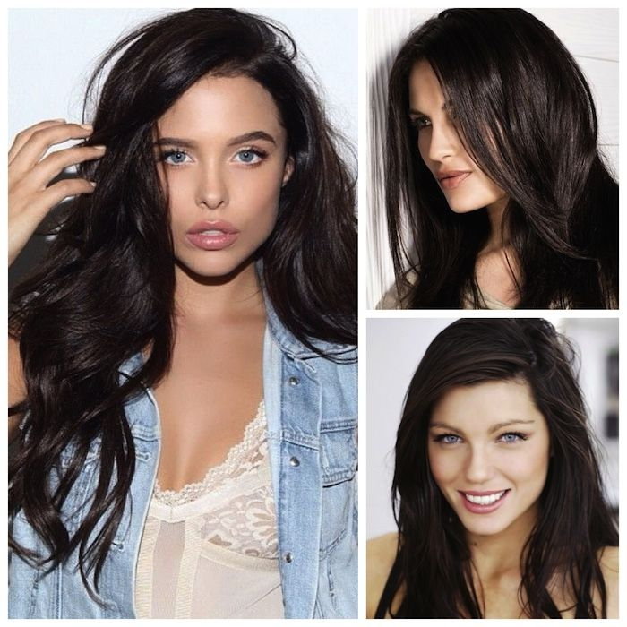 Dark, cocoa-hued brown may not be the first thing that comes to mind when you think about spring hair color, but the deep shade is gorgeous paired with pastels. A rich dark brown is a great way to ...
