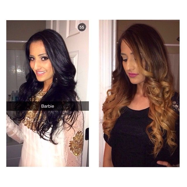 #CHIcolor makeover from black hair to a 3 tone, nicely ...