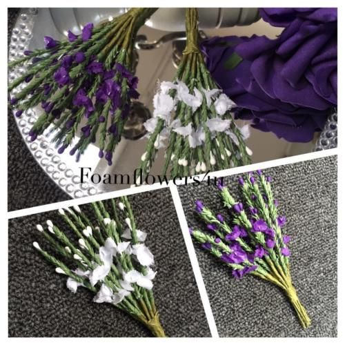 Purple White Scottish Traditional Artificial Heather Flower Buttonhole Wedding | eBay