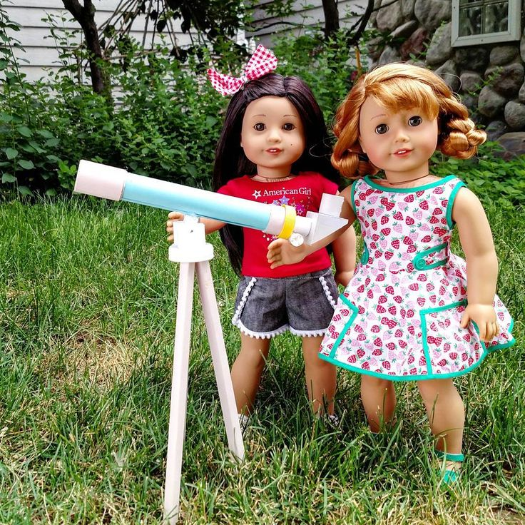 Z and Mary Ellen. My STEAM girls prepping to celebrate Moon Day tonight. It was also a great incentive for me to finally finish this telescope diy from @american.girl.ideas . I only started it 2 years ago🙈😂🌛🌠🌌🌃