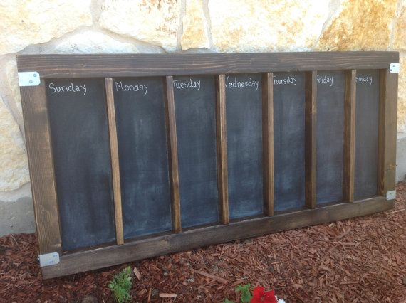 large wood framed chalkboard calendarchore chartmenu board with stainless steel hardware you couldnt beat this price at hobby lobby even with a off sale