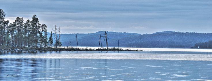 Maisema Inarijärveltä.Landscape in Lake Inarijärvi.Photo Ismo Pekkarinen, #lappi #inari #maisema #inarijärvi #lapland #lake #landscape #