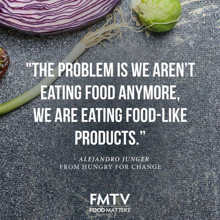 We couldn't agree more with Alejandro Junger from Hungry For Change.   www.FMTV.com
