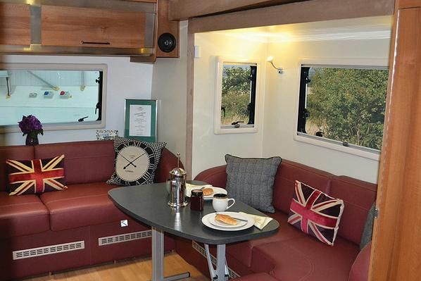 Interior of the Inos caravan by Fifth Wheel Company - looking very cosy :)