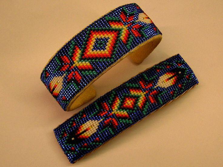 "Handmade Navajo Matching Beaded Bracelet & Barrette ""Copper Inside"" Barber #Cuff"