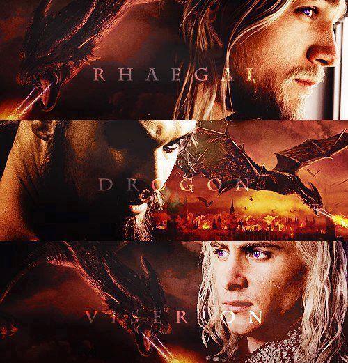 How Daenerys Targaryen named her Dragons. Rhaegar Targaryen, Khal Drogo, Viserys Targaryen