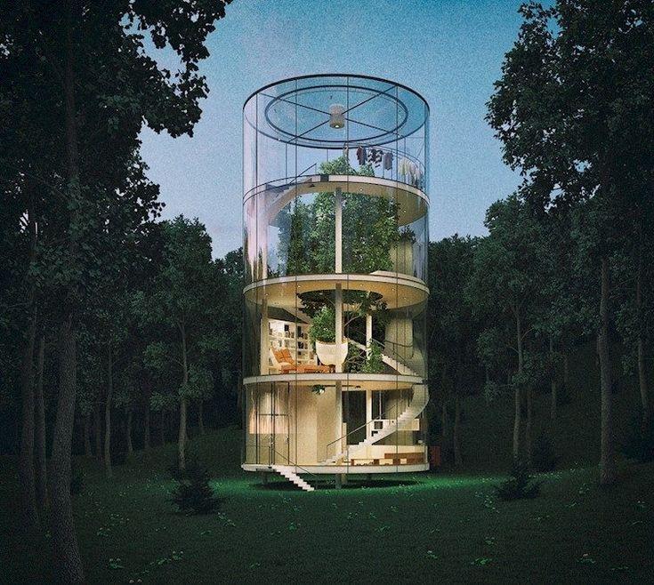 Потрясающие сооружения, построенные вокруг деревьев / Туристический спутник