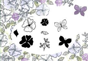 Sketchy Spring Floral, Majestix Peg Stamp Set