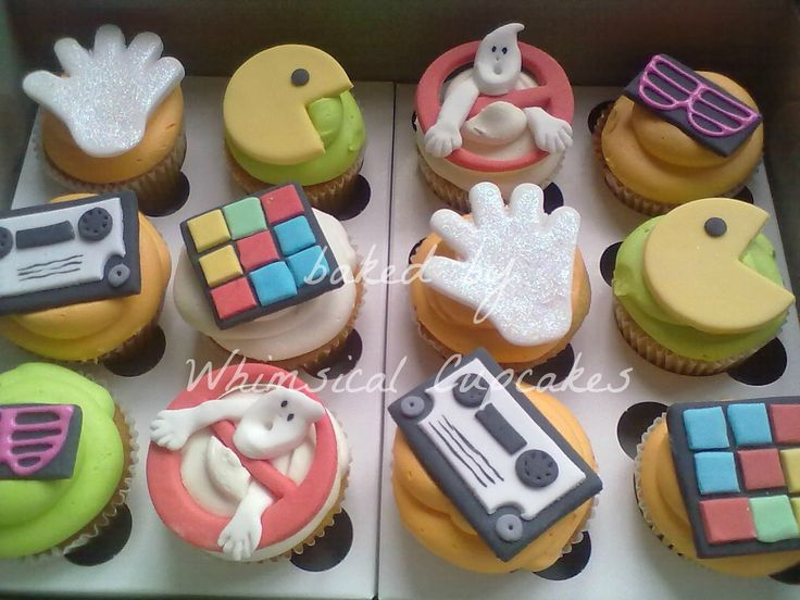 WHIMSICAL CUPCAKES: Whimsical 80's themed party bakes! Cupcakes