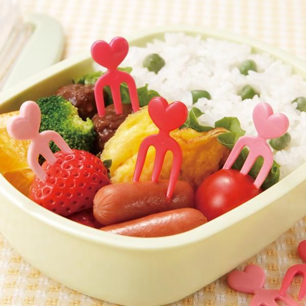 Heart Food Forks (x12) – The Lunchbox Queen