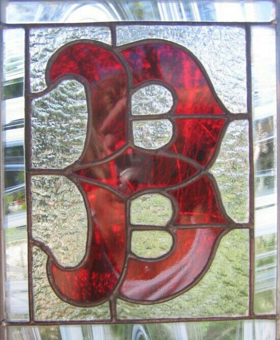 Red Stained Glass : Boston red sox stained glass