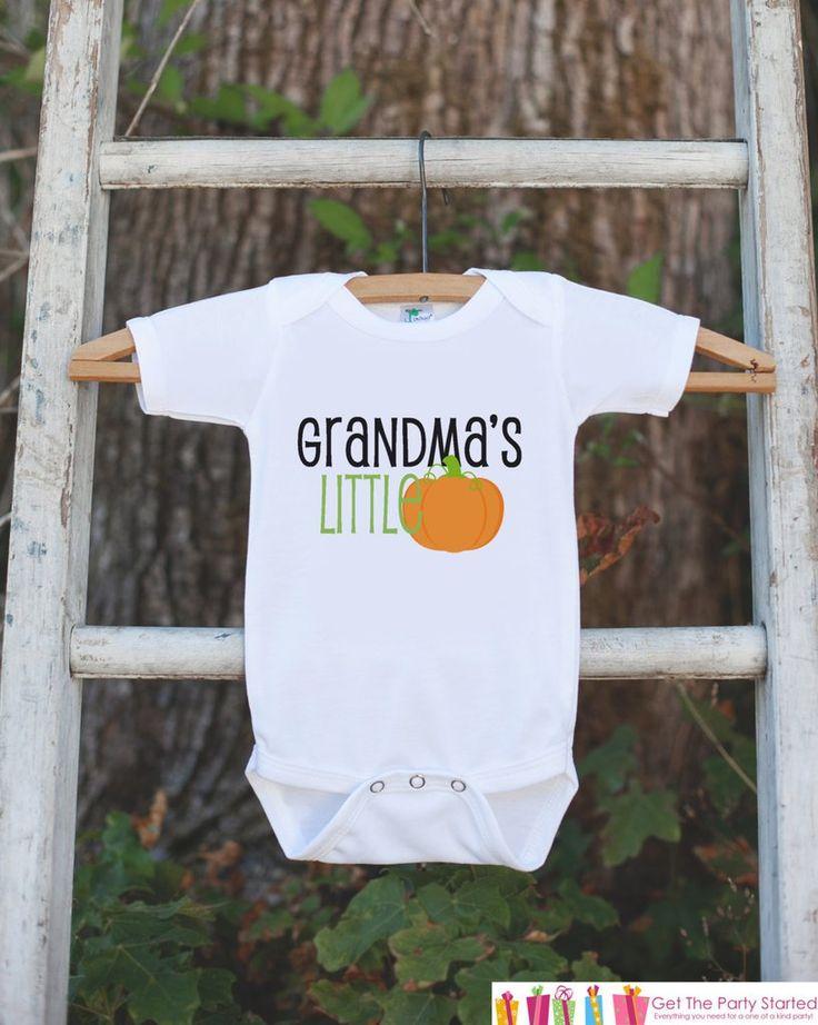 Grandma's Little Pumpkin Halloween Shirt - Pumpkin Onepiece - Fall Outfit for Baby Boy or Baby Girl - Halloween Outfit - Kids Novelty Shirt