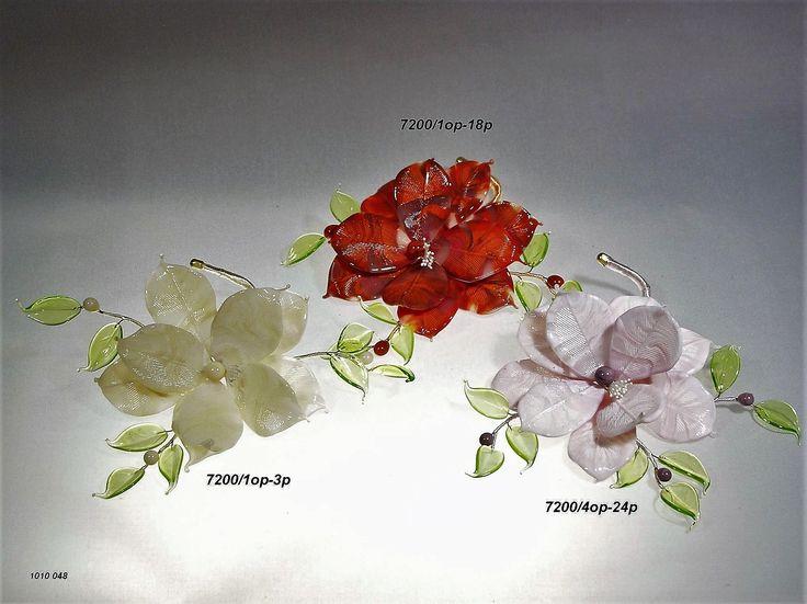 Preziosi rami fiore in vetro di murano