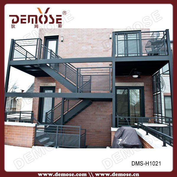 Best Steel Grating Outdoor Spiral Staircase Prefabricated 640 x 480