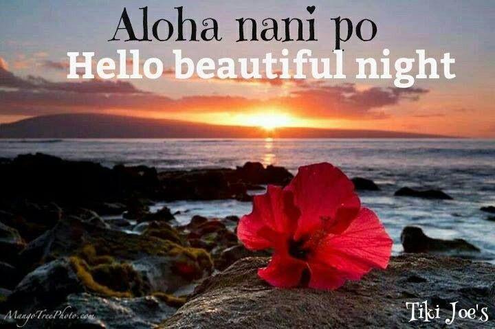 """Hello beautiful night--- """"Aloha nani po""""."""