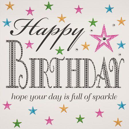 IS28 Happy Birthday Sparkle Star