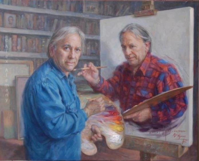 He made a painting of himself painting himself…: Paintception, Artists, Alex Alemany, Stuff, Alexalemany, Funny, Paintings, Alex O'Loughlin