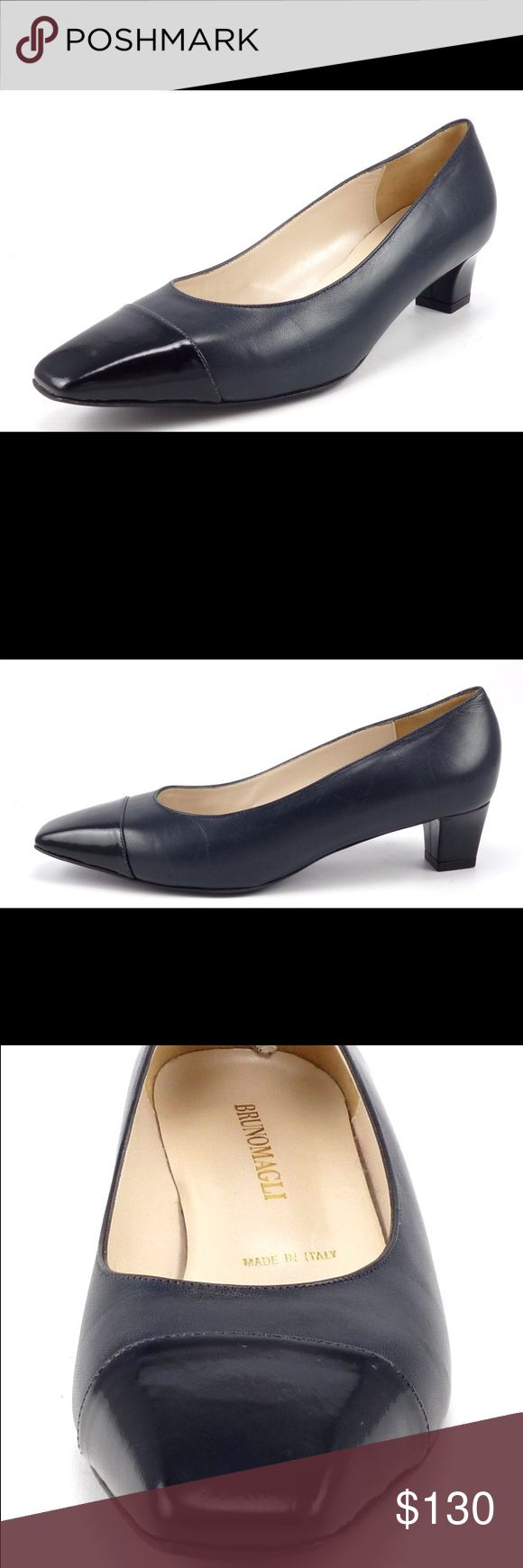 """Bruno Magli Women's Grey Pumps NWOT Size 8.5 NWOT Bruno Magli Leather Women's Grey Pumps. Leather uppers with patent leather cap toe, leather lining and sole. Made in Italy. Approx. Measurements: Inside: 10"""" Outside: 10.25"""" Width: 3.25"""" Heel: 1.25 There are two small marks in the bottom of one shoe from the retailer to prevent return to the department store. Please feel free to ask any questions. Sorry no trades. 102230 Bruno Magli Shoes Heels"""