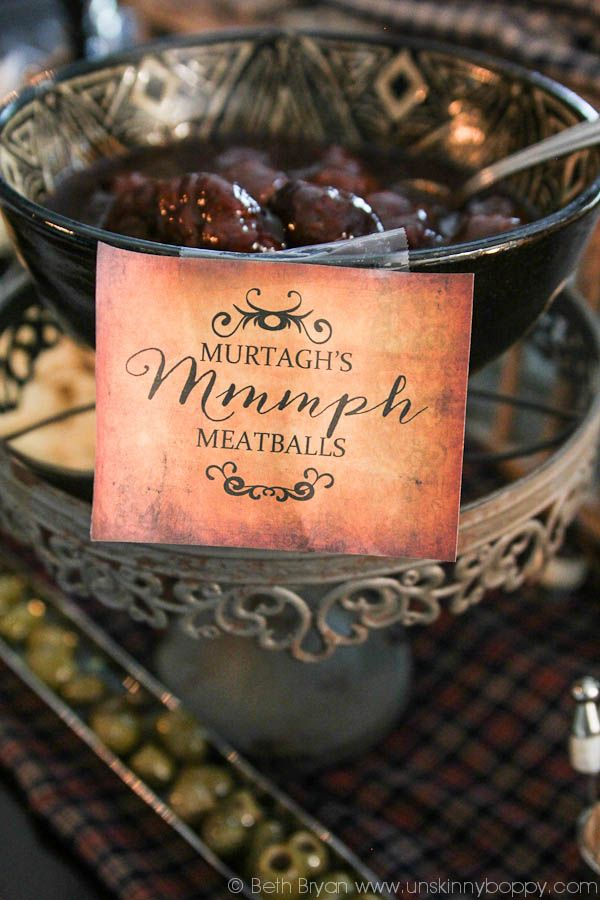 Outlander Party Ideas-Amazing decorations for premier party!  Mmmmmph.