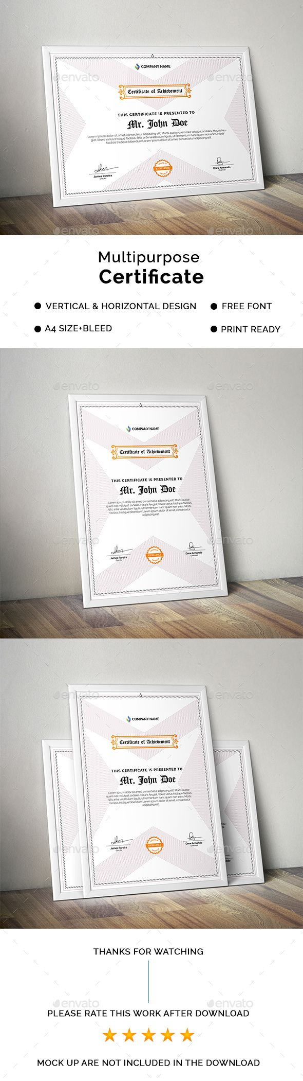 Certificate #certificate design #awards  • Download here → https://graphicriver.net/item/certificate/17599985?ref=pxcr