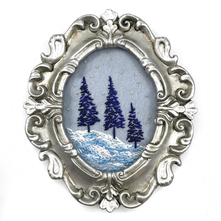 A personal favorite from my Etsy shop https://www.etsy.com/listing/472820718/winter-art-small-framed-art-framed