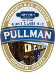 "Pullman First Class Ale - Hepworth & Company Brewers Ltd., West Sussex, UK : Sharing the ""biscuity malt complexity and hazy, amber color of its sister ale Iron Horse"", this ale ""stands on its own"". Pour at 55˚ and ""take some time to enjoy"". Hops give the ""beer a delicate balance"", with ""slight hints of coffee and toasted malt"". At only about 4.2% ABV, it's ""amazing"" these ""English ales pack so much flavor and sophistication"". A ""perfectly delicious English session ale""."