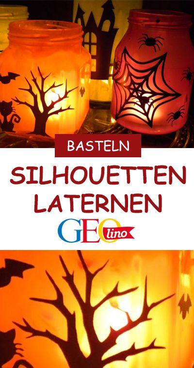 Halloween Deko basteln: Windlichter