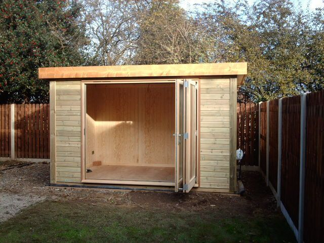 25 best ideas about contemporary sheds on pinterest for Large garden buildings