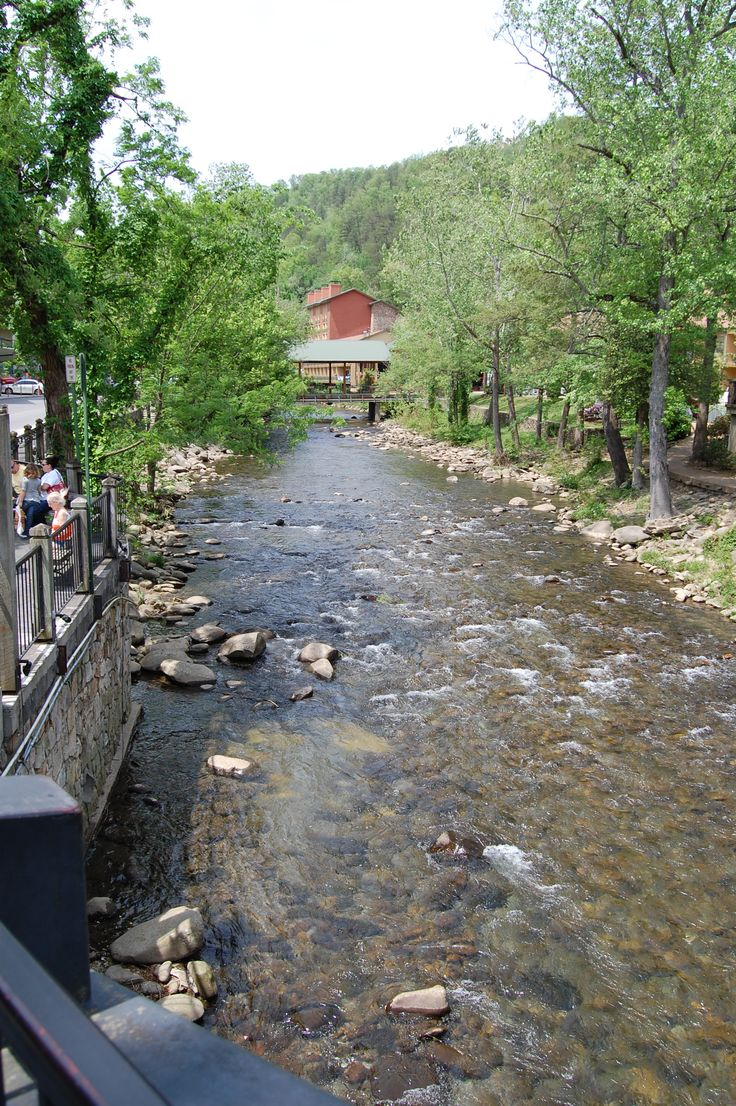 Riverwalk in Gatlinburg, Tn. - I love the mountain streams. This one comes out of the Little Pigeon River.