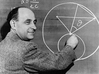 Enrico Fermi. Trying to prove that science is black and white, not grey?